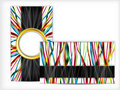 Business card design with ribbons Royalty Free Stock Photo