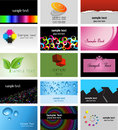 Business card designs Royalty Free Stock Photography