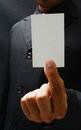Business card man in suit with Royalty Free Stock Photos