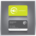 Business card modern and creative vector set template with logo Royalty Free Stock Photo