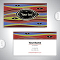 Business card with mystical patterns universal Royalty Free Stock Image