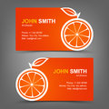 Business card orange vector illustration in eps Royalty Free Stock Photography