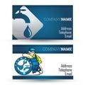 Business card for plumbing repair business