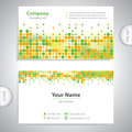 Business card - science and research - decorative background Royalty Free Stock Photo