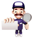 Business card service man. 3D Business Character Stock Photography