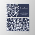 Business card with stylish modern floral pattern Royalty Free Stock Photo