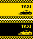 Business card with taxi sign and cars silhouette Royalty Free Stock Photography