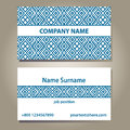 Business card template in blue and white colors on grey gradient background with shadows vector illustration x you can edit size Royalty Free Stock Photography