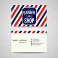 Business card Template design for barber shop Royalty Free Stock Photo