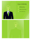 Business card template for green business Royalty Free Stock Photo
