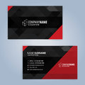 Business card template. Red and Black