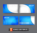 Business Card template set  020 Blue and curve element Royalty Free Stock Photo