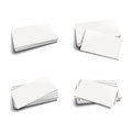 Business card template a set of four templates in different arrangements Royalty Free Stock Photo