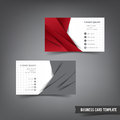 Business Card template set 027 red and grey layer overlab Royalty Free Stock Photo