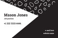 Business card template in the style of Memphis