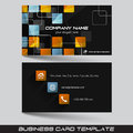 Business card template or visiting card set Royalty Free Stock Photo