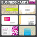 Business card templates. Royalty Free Stock Photo