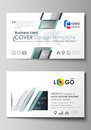 Business card templates. Easy editable layout, abstract vector design template. Genetic and chemical compounds. Atom