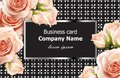 Business card Vector delicate roses floral background. Abstract elements decor. 3d realistic floral designs