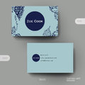 Business card vector template with grapes ornament background