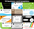 Business card vector templates Stock Image