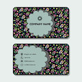 Business card or visiting card with colored rings and circles