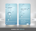 Business Card with water drop. Royalty Free Stock Photo