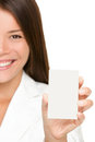 Business card woman Stock Photography