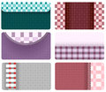 Business cards of checkered fabric Royalty Free Stock Image