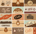 Business cards of coffee Stock Photo