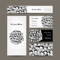 Business cards collection people crowd design this is file of eps format Royalty Free Stock Photo
