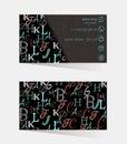 Business cards, corporate identity, corporate style, translator, interpreter