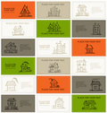 Business cards with houses for your design Stock Photo