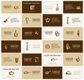 Business cards with kitchen utensils Royalty Free Stock Photography