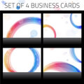 Business Cards Set. Colorful Royalty Free Stock Photo