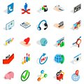 Business career icons set, isometric style Royalty Free Stock Photo