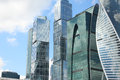 Business center Moscow-City. Fragment of skyscrapers Royalty Free Stock Photo