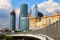 Business center moscow city moscow the complex of skyscrapers russia Royalty Free Stock Photo