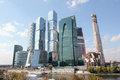 Business center Moscow City in Russia Royalty Free Stock Photography
