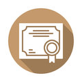 Business Certificate flat icon
