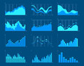 Business charts and graphs infographic elements vector illustration. Royalty Free Stock Photo