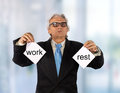 Business choice businessman has a in the office Royalty Free Stock Photo