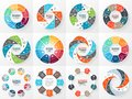 Business circle infographic, diagram with options Royalty Free Stock Photo