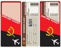 Business Class Flight to Angola Royalty Free Stock Photo