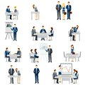 Business Coaching Icons Set Royalty Free Stock Photo