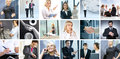 Business collage of images with people Royalty Free Stock Photo