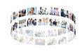 Business collage made of some pictures Royalty Free Stock Photos