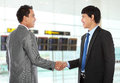 Business colleagues shaking hands Royalty Free Stock Photography