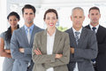 Business colleagues standing in a row the office Royalty Free Stock Photos