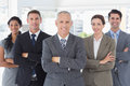 Business colleagues standing in a row the office Royalty Free Stock Images